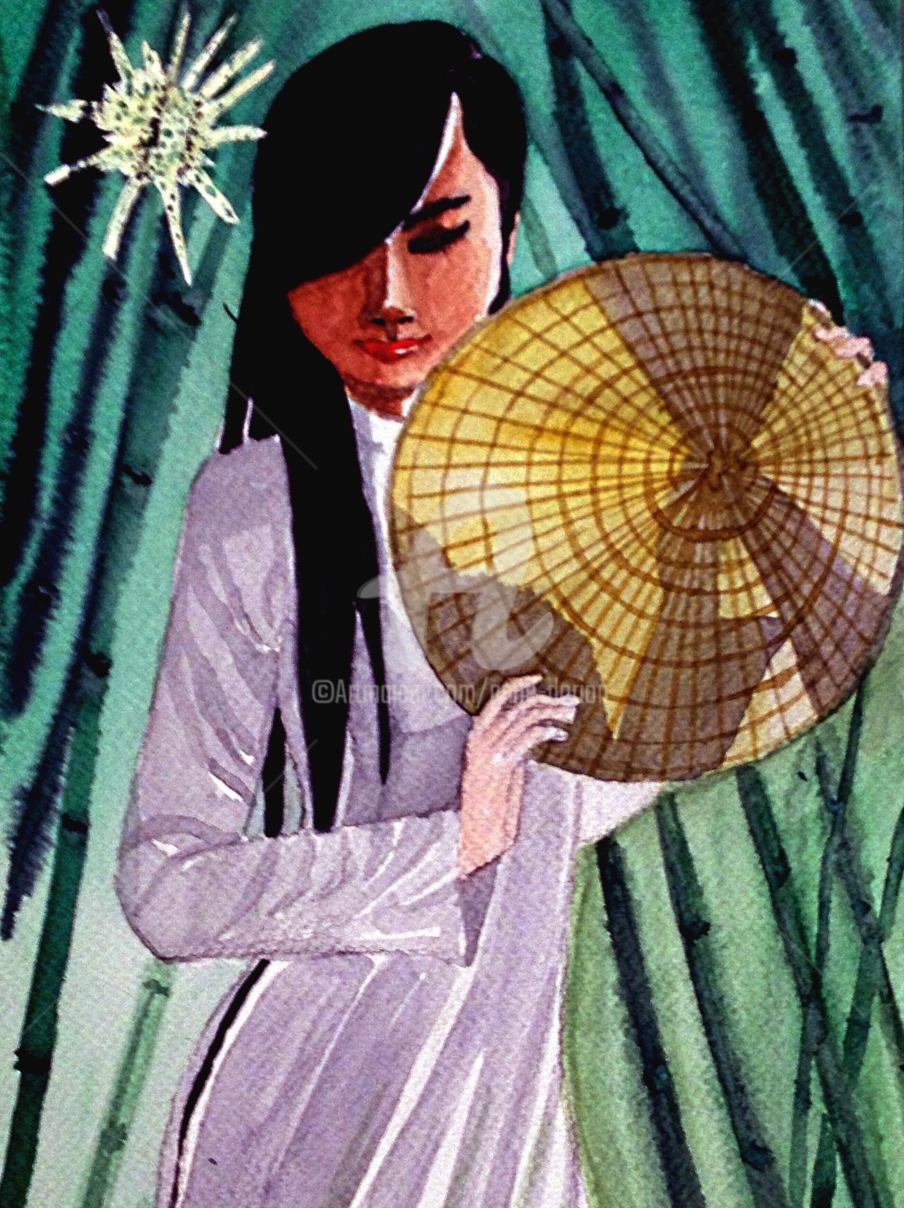 Anne D'Orion - Chapeau cônique en contre-jour