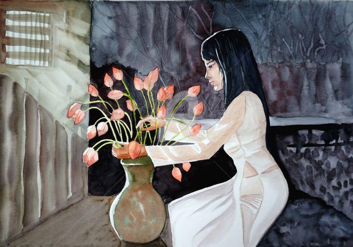 Anne d'Orion - Vietnamienne aux lotus
